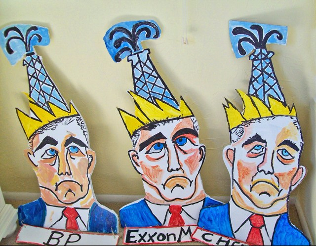 Big Oil Dudes, by artists from ARRT.
