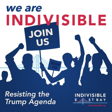 Indivisible East Bay marching