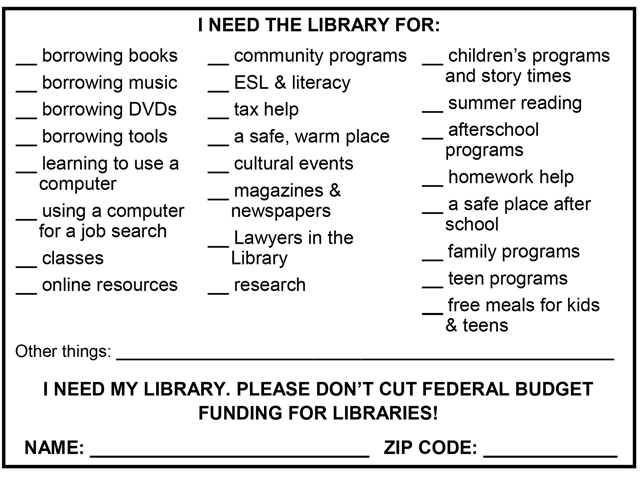 Library postcard