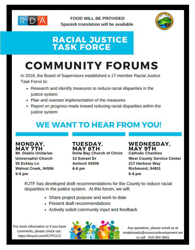 Racial justice community forums