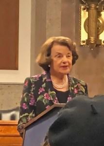 Senator Feinstein visit to DC