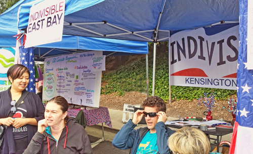 July 4th Indivisible booth