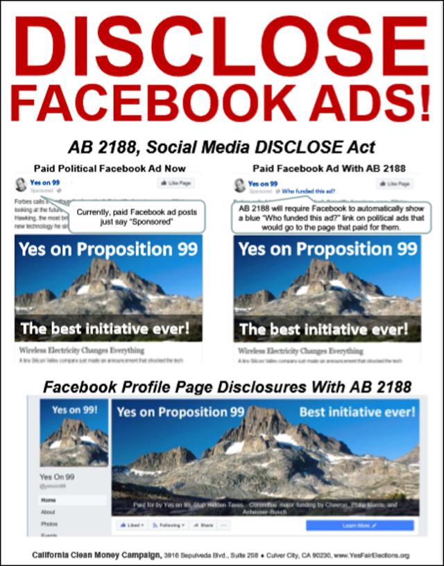 Social media Disclose act
