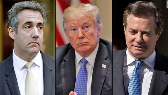 Cohen - Trump - Manafort, © Getty Images