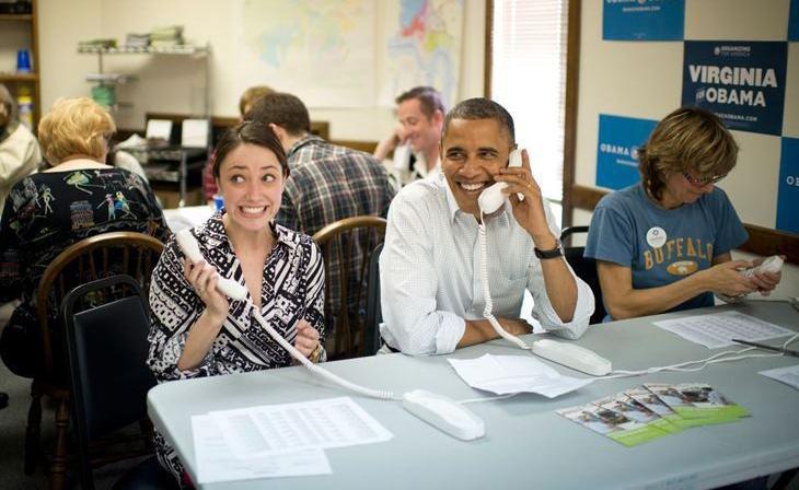 Obama phonebanking