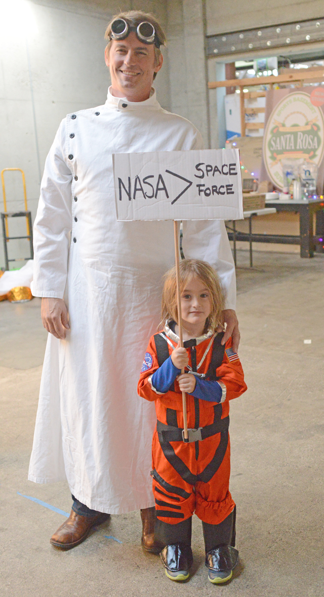 NASA Space Force astronaut and assistant. Photo by Toby St John