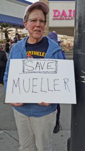 Nobody Is Above the Law protest: Save Mueller. Photo by Heidi Rand