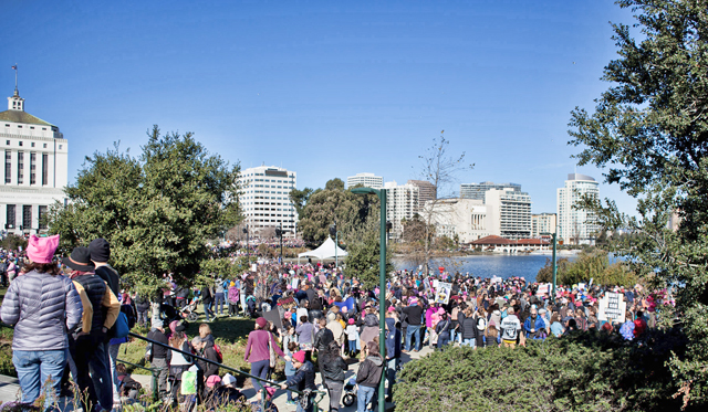 Womens March Oakland 2018, photo by Rex Mananquil