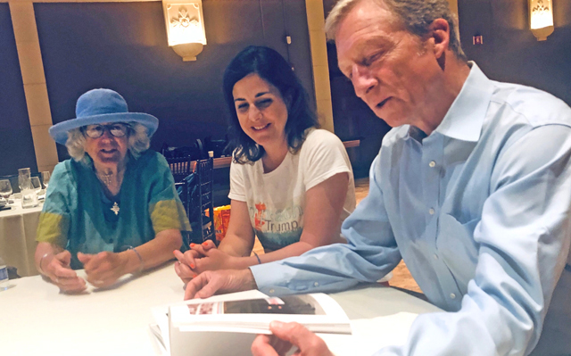 A4I's Katie and Rosemary meet with Tom Steyer, photo by Lynn LaRocca