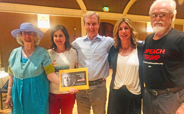 A4I's Katie, Rosemary, Lynn, and Ken meet with Tom Steyer, photo by Jamiah Adams