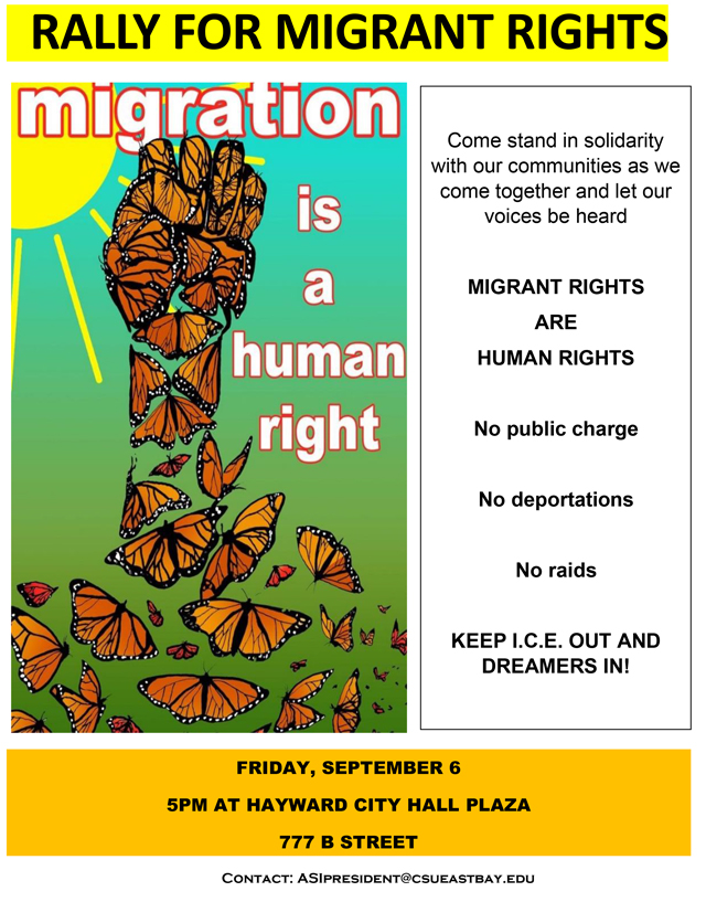640 Migrant Rights Rally hayward sept 6 flyer