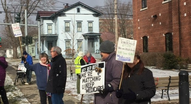 1/30 Yates County Residents March in Support of Medicare