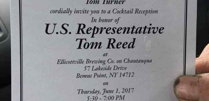 Bemus Point – Local Residents Plan Protest at Reed Fundraiser
