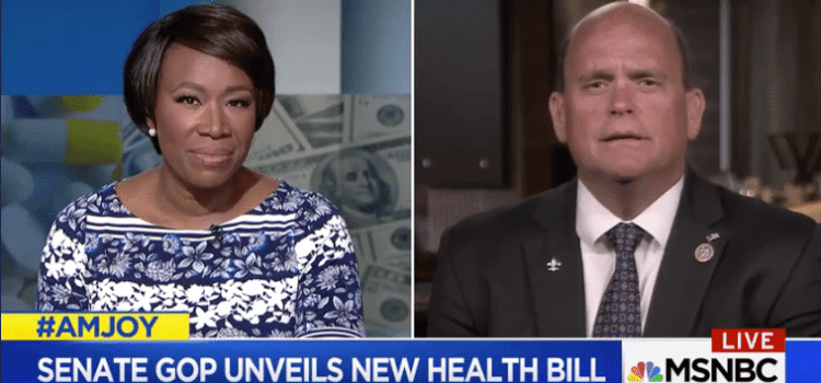 Congressman Reed's Interview on AM Joy – Money Over People