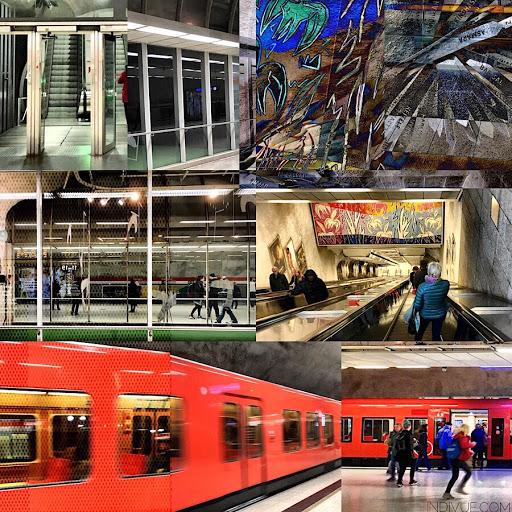 Kampin metroasema -kollaasi