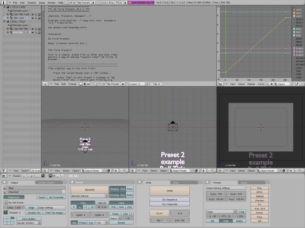 Blender Video Sequence Editor: Quick Start (3/3)