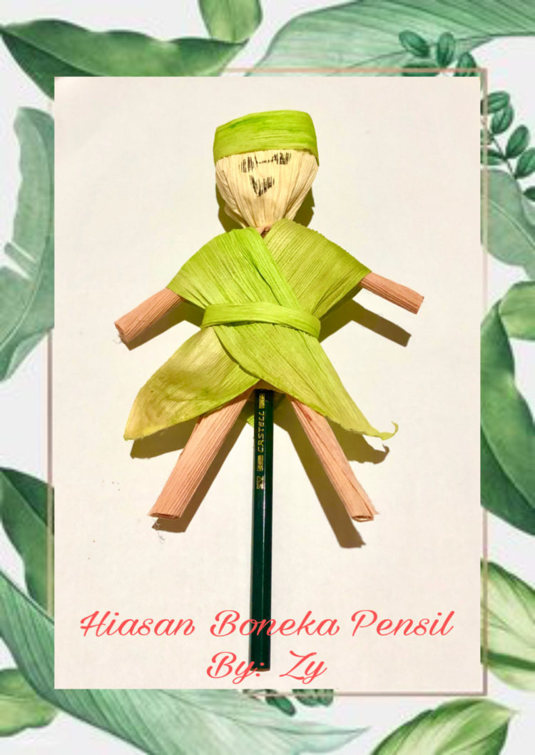 Cara Bikin Boneka Dari Kulit Jagung : bikin, boneka, kulit, jagung, Membuat, Boneka, Pensil, Kulit, Jagung, AMuslima