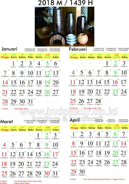 Kalender Hijriyah 1440 : kalender, hijriyah, IndoAzur
