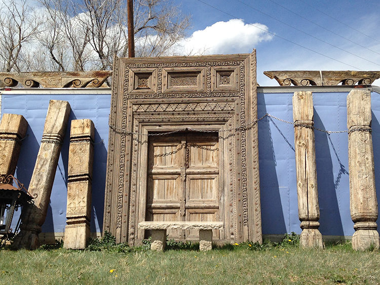 Afghan Wooden Entry Door Columns And Capitals