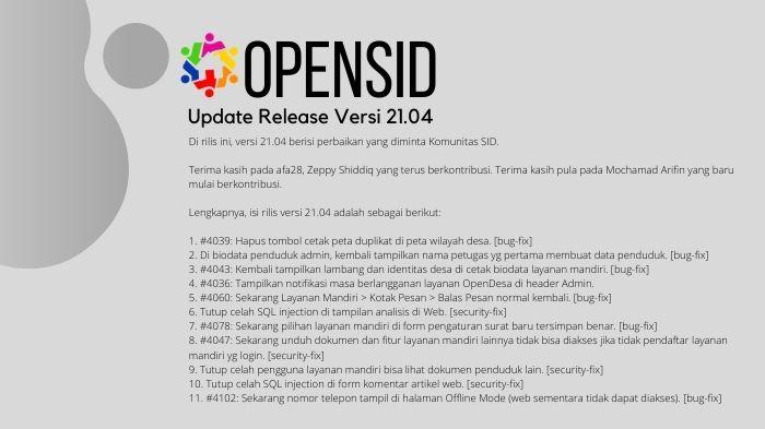 opensid versi 21.04