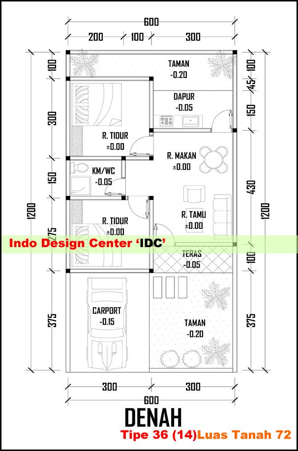 Denah Rumah Minimalis Tipe 36 Arsip - Kursus / Privat