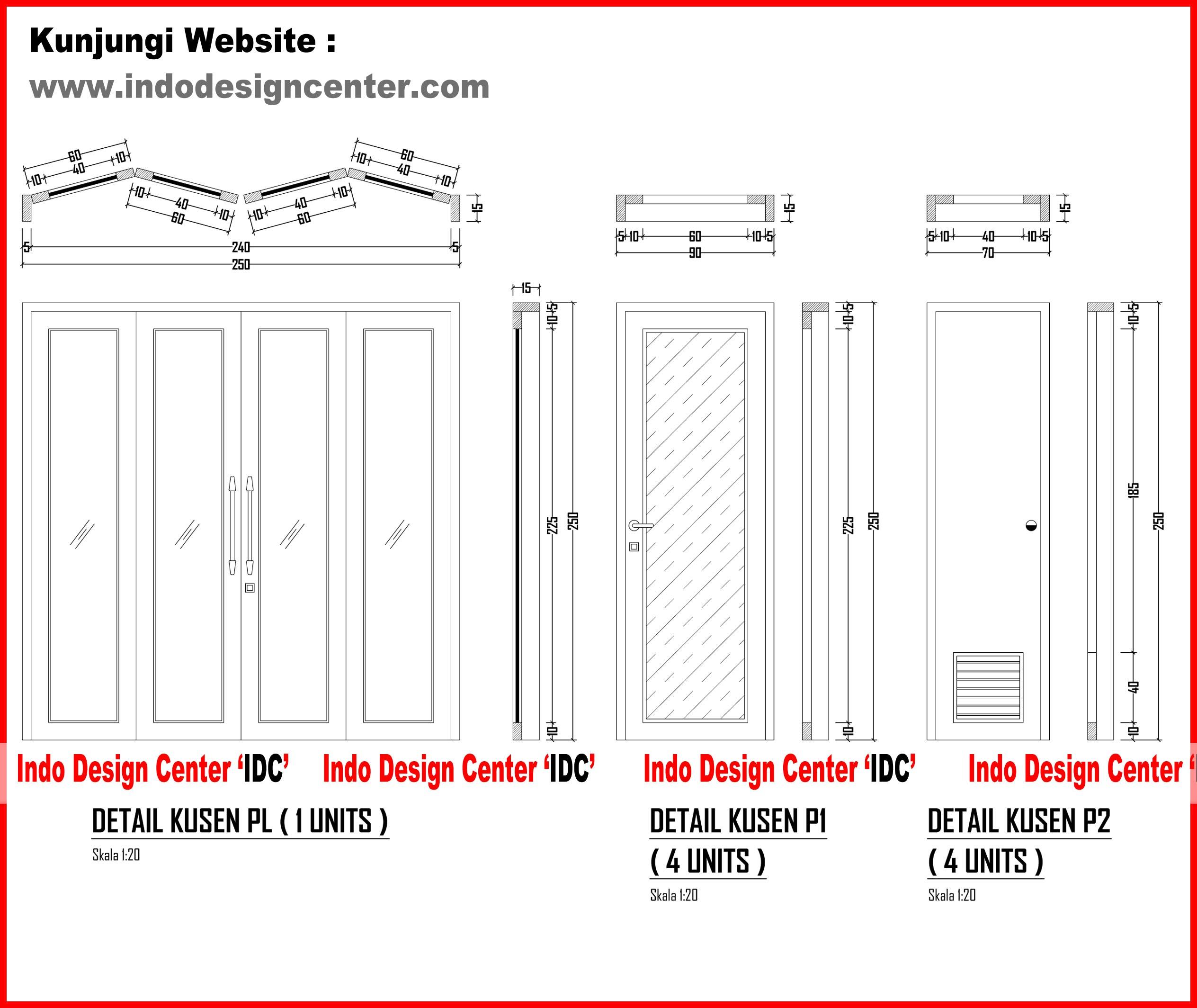 Detail Kusen Pintu Lipat,Pintu Single,Pintu Kamar Mandi
