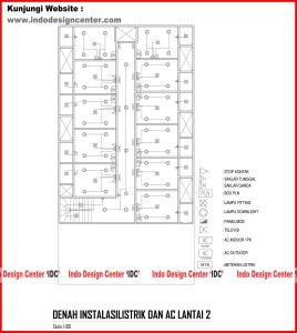 037.Denah Instalasi Listrik Dan AC Lantai 2