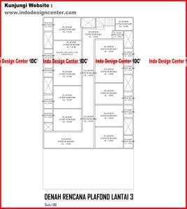050.Denah Rencana Plafond Lantai 3