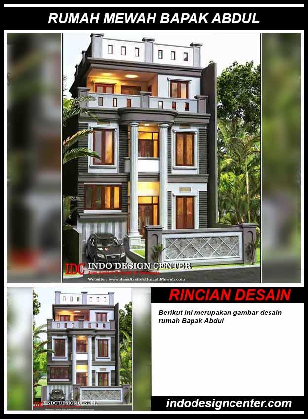 Jasa Desain Rumah Mewah Bapak Abdul
