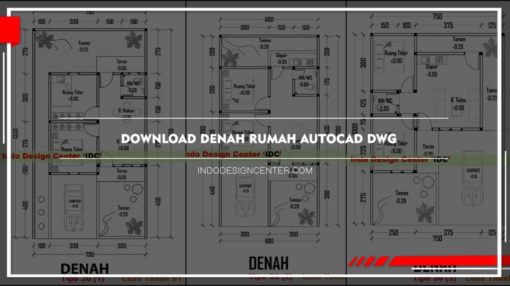 Download Denah Rumah Autocad Dwg