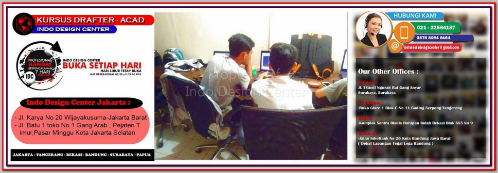 Kursus Modeling Sketchup Di Petojo Utara - Jakarta - Tangerang - Bekasi - Bandung - Surabaya