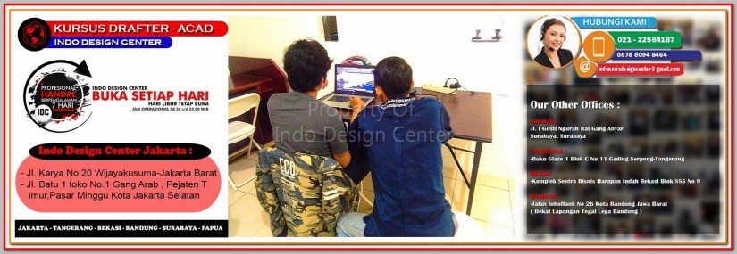 Tempat Kursus AutoCAD Di Cempaka Putih - Jakarta - Tangerang - Bekasi - Bandung - Surabaya