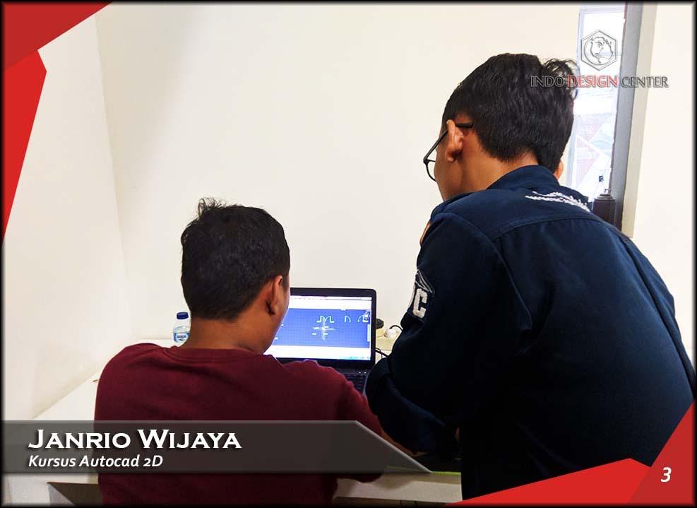 Kursus AutoCAD 2D Pak Janrio Wijaya Indo Design Center Tangerang (3)