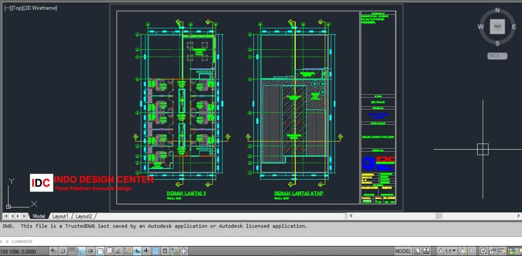 Gambar Denah Autocad Kursus AutoCAD 2D 3D Di Tangerang Terbaik (2)
