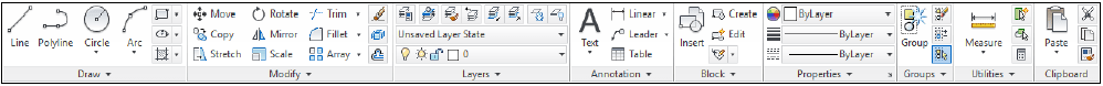 toolbar autocad