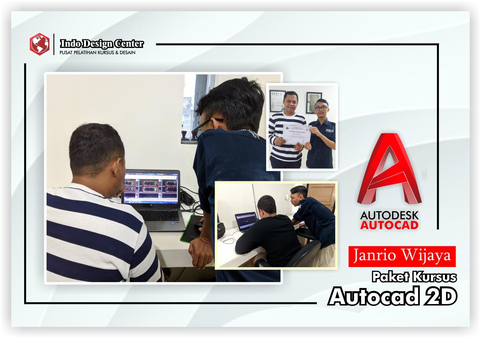 Kursus-AutoCAD-2D-Pak-Janrio-Wijaya-Indo-Design-Center-Tangerang-Header