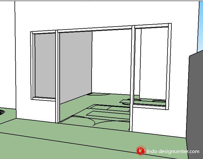 membuat dinding kusen di sketchup