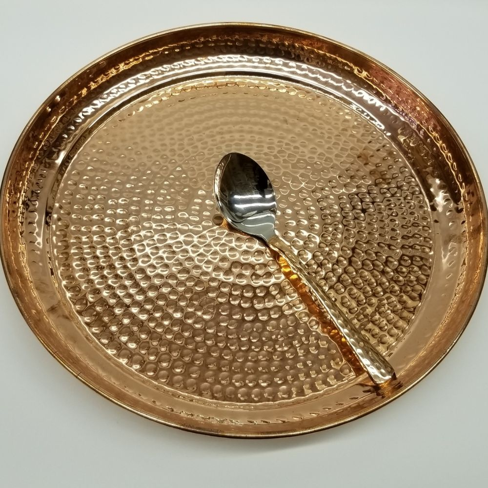 Copper Plate - Hammered Finish 31.5cm