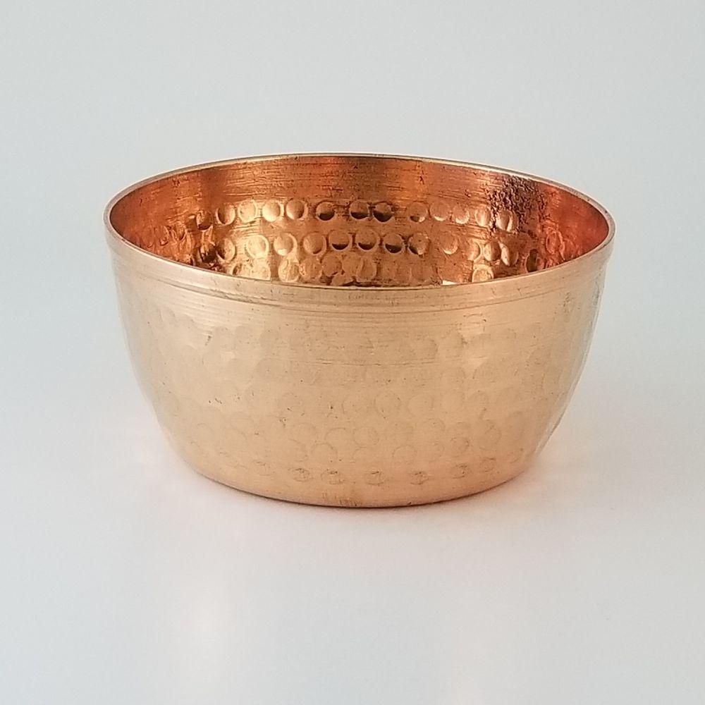 Copper Bowl - Hammered Finish 9cm