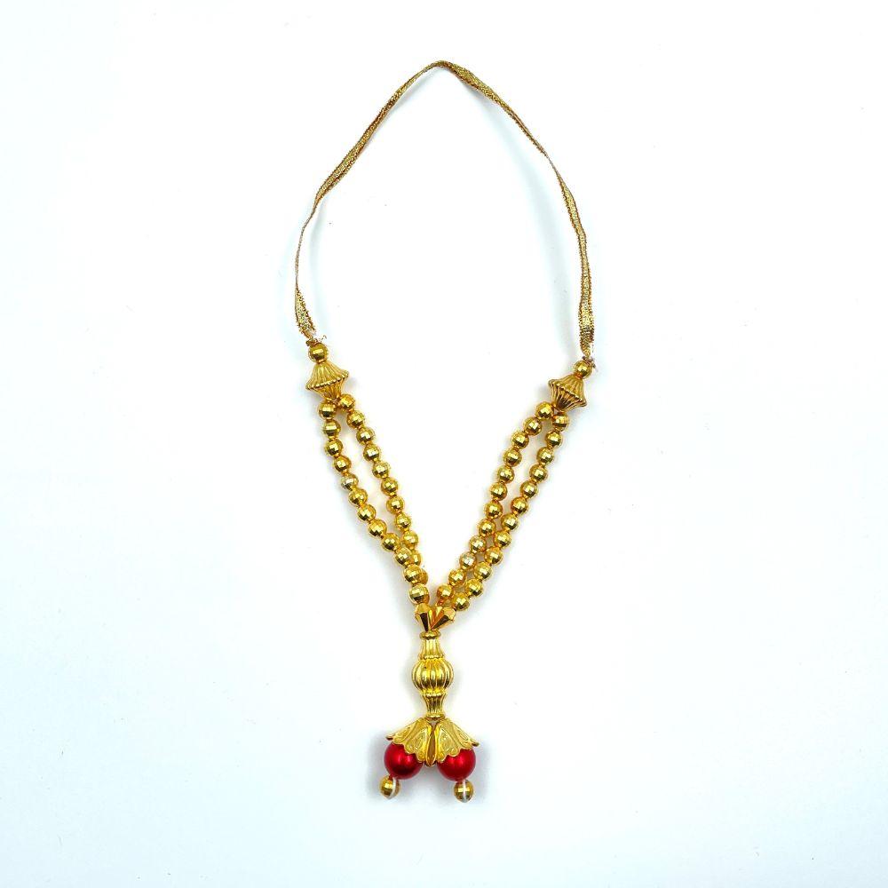Gold Bead Garland (Mala) - 14cm