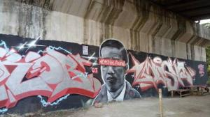 Mural mirip Jokowi