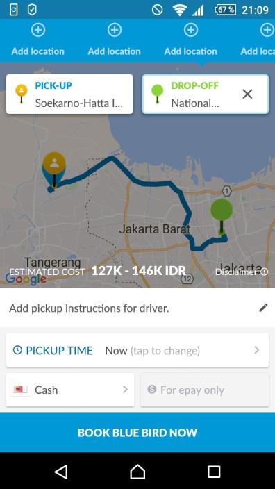 Einfach Transport in Indonesien - dank diese App geht das!