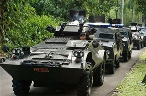 Formasi Commando Scout di Istana Bogor