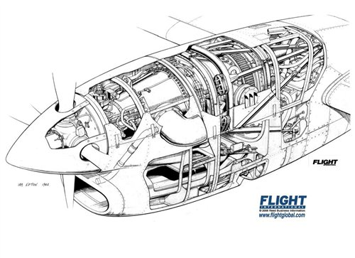 Pt6a Engine Cutaway, Pt6a, Free Engine Image For User
