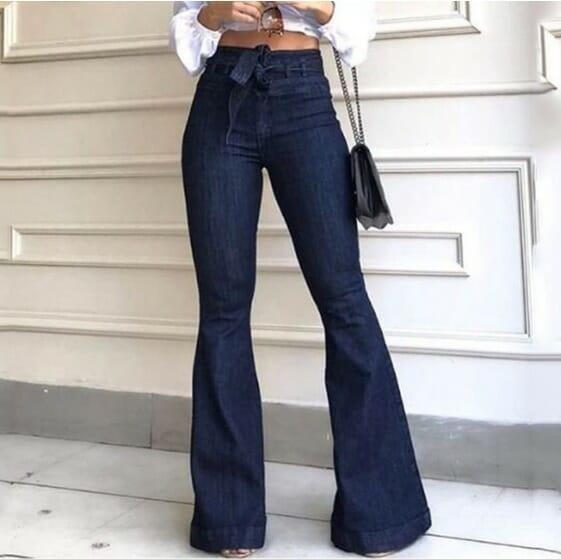 Jeans Pata De Elefante Elasticado Indomita Guapa