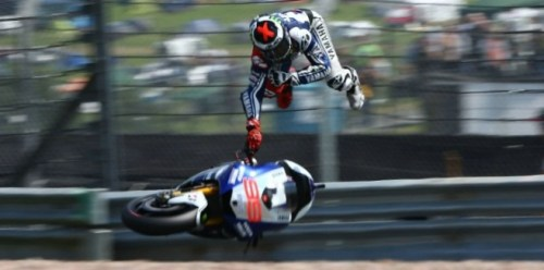 Lorenzo crash at motogp sachsenring