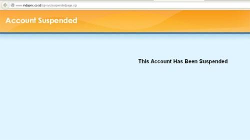 situs indoprix account suspended