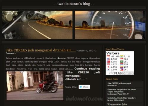 penampakan blog iwanbanaran pada oktober 2010