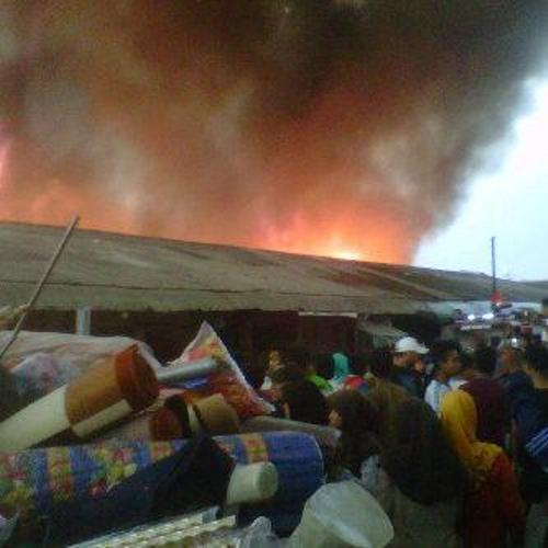 Pasar Ciranjang kebakaran