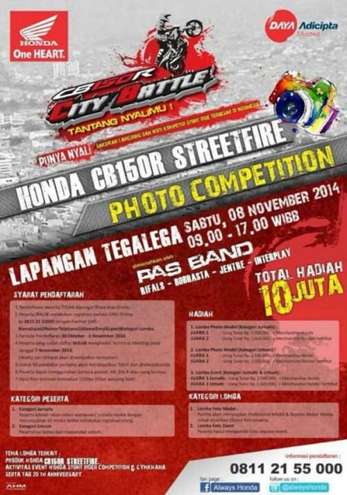 honda cb150r streetfire photo competition